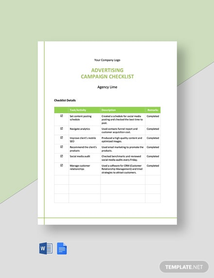Advertising Campaign Checklist