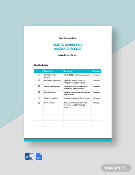 Digital Marketing Agency Checklist