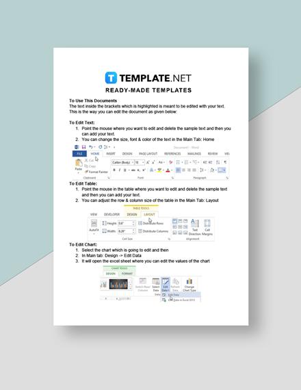 Free Sample School Report Instruction