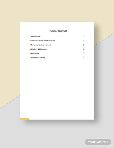 Free School Annual Report Template