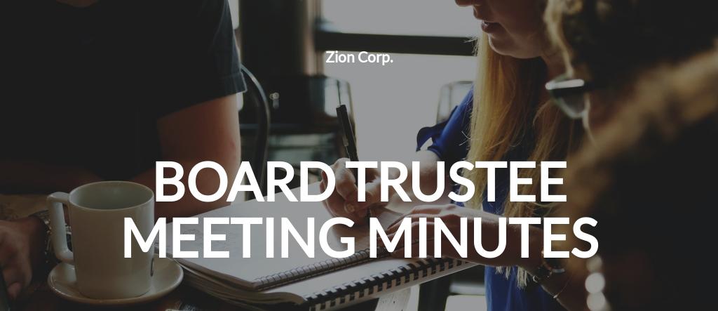 Board of Trustee Meeting Minutes Template.jpe