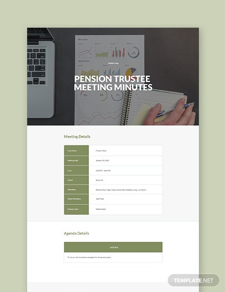 Pension Trustee Meeting Minutes Template