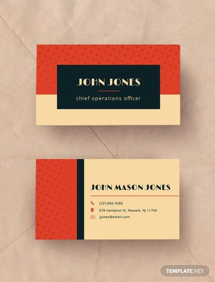 Free business card templates for personal business use free vintage business card template reheart Choice Image