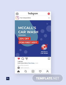 Free Car Wash Instagram Post Template