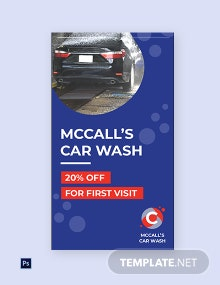 Free Car Wash Instagram Story Template