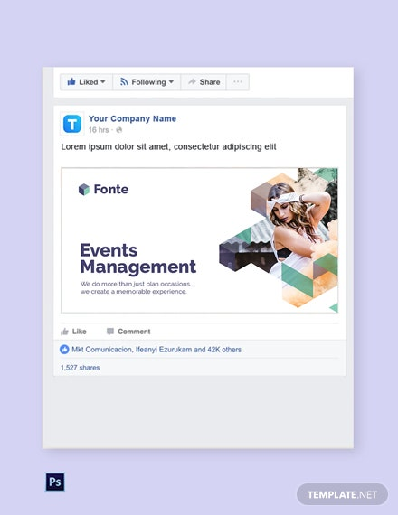Free Event Management Facebook Post Template