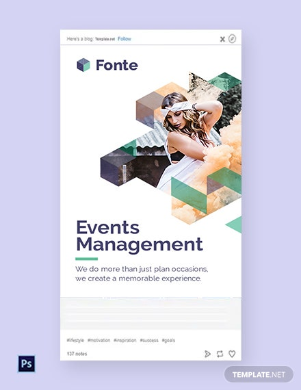 Free Event Management Tumblr Post Template