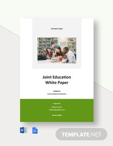 Joint Education White Paper Template