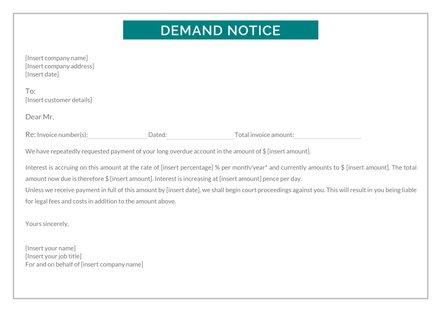 Demand Notice Template