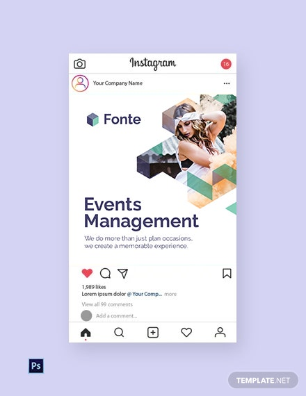 Free Event Management Instagram Post Template