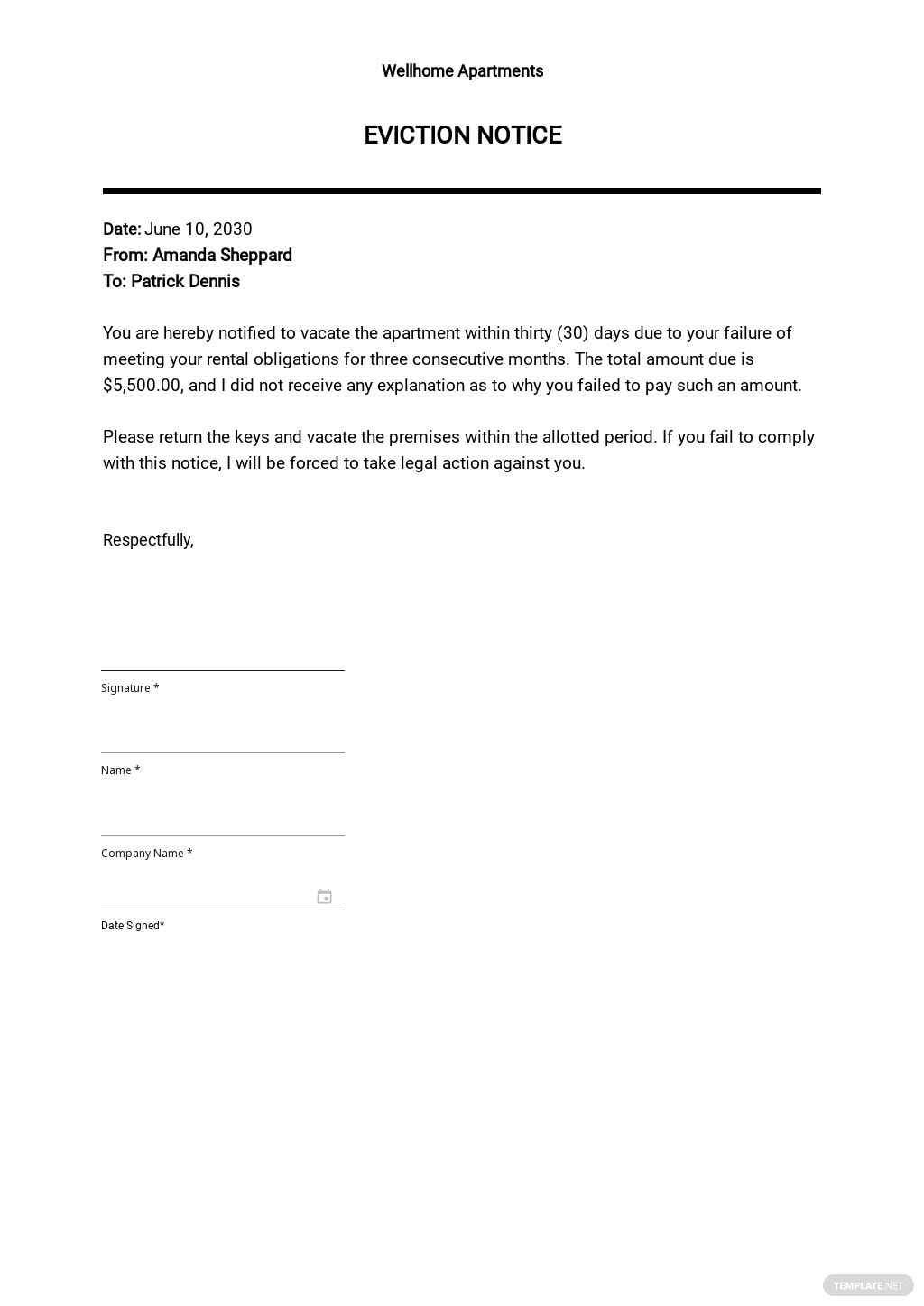 Free Eviction Notice Template.jpe