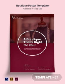 Boutique Poster Template