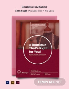Boutique Invitation Template
