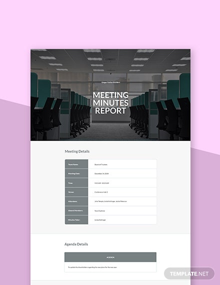 Corporate Shareholder Meeting Minutes Template