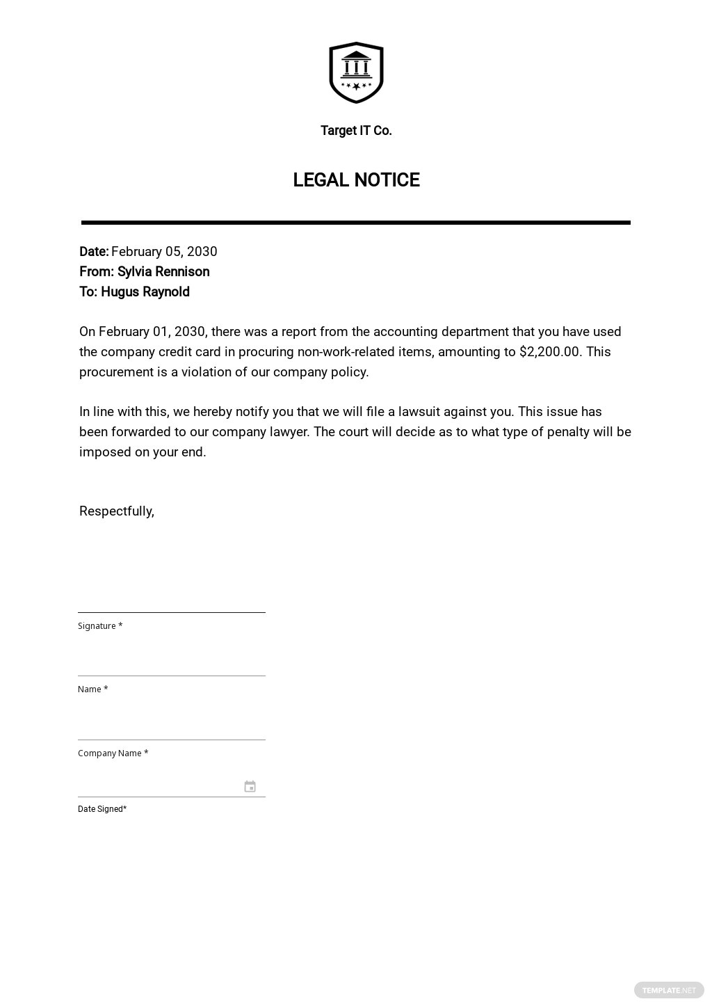 Free Legal Notice Template.jpe
