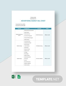 Advertising Agency Sell Sheet Template