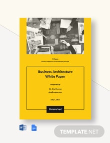 Business Architecture White Paper Template