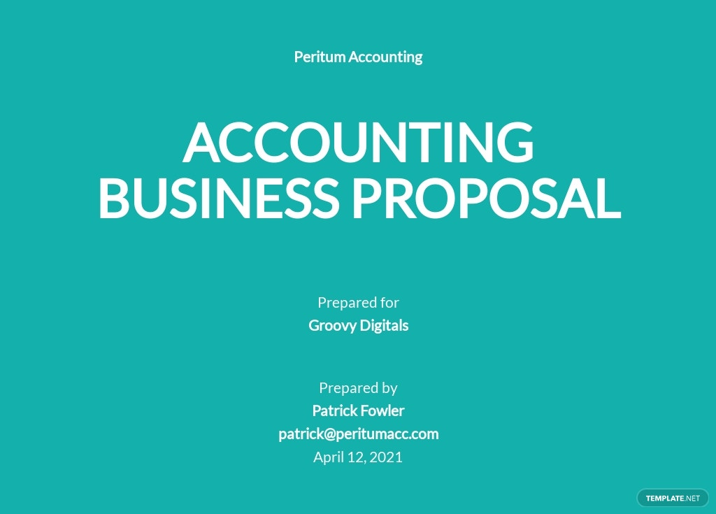 Accounting Business Proposal Template