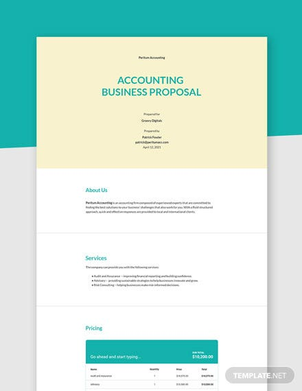 Accounting Business Proposal