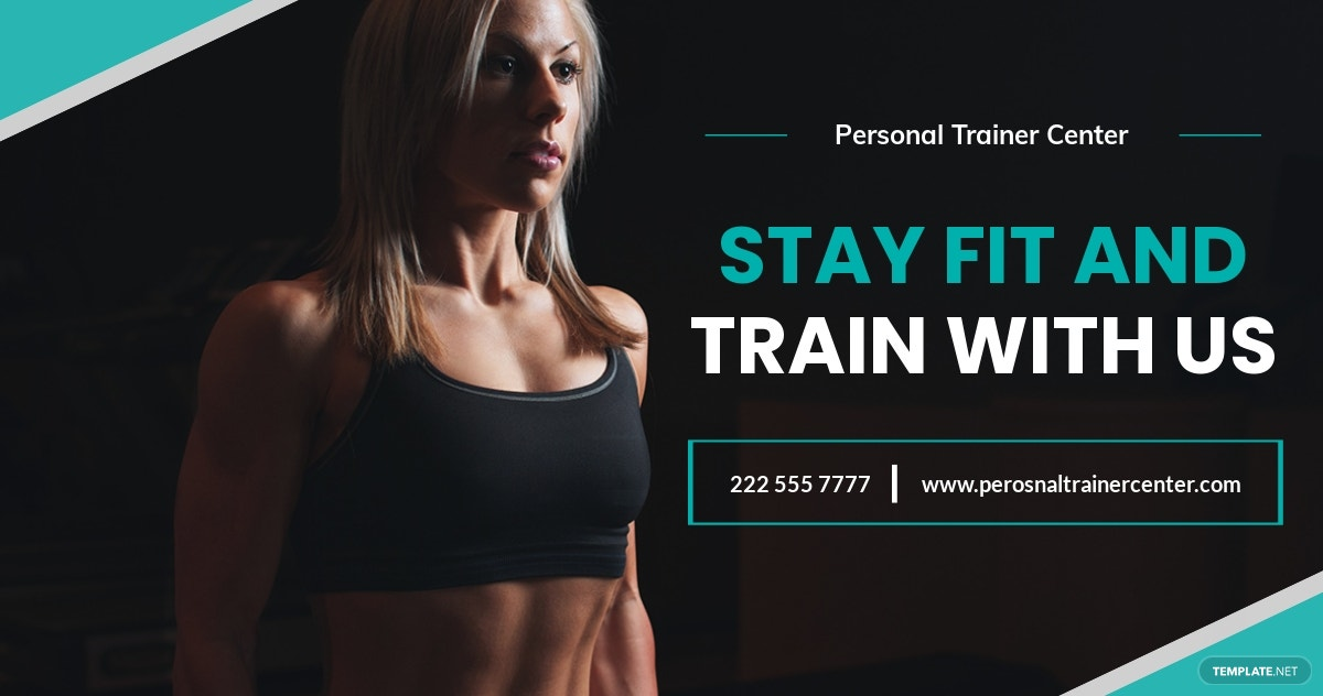 Free Personal Trainer Facebook Post Template.jpe