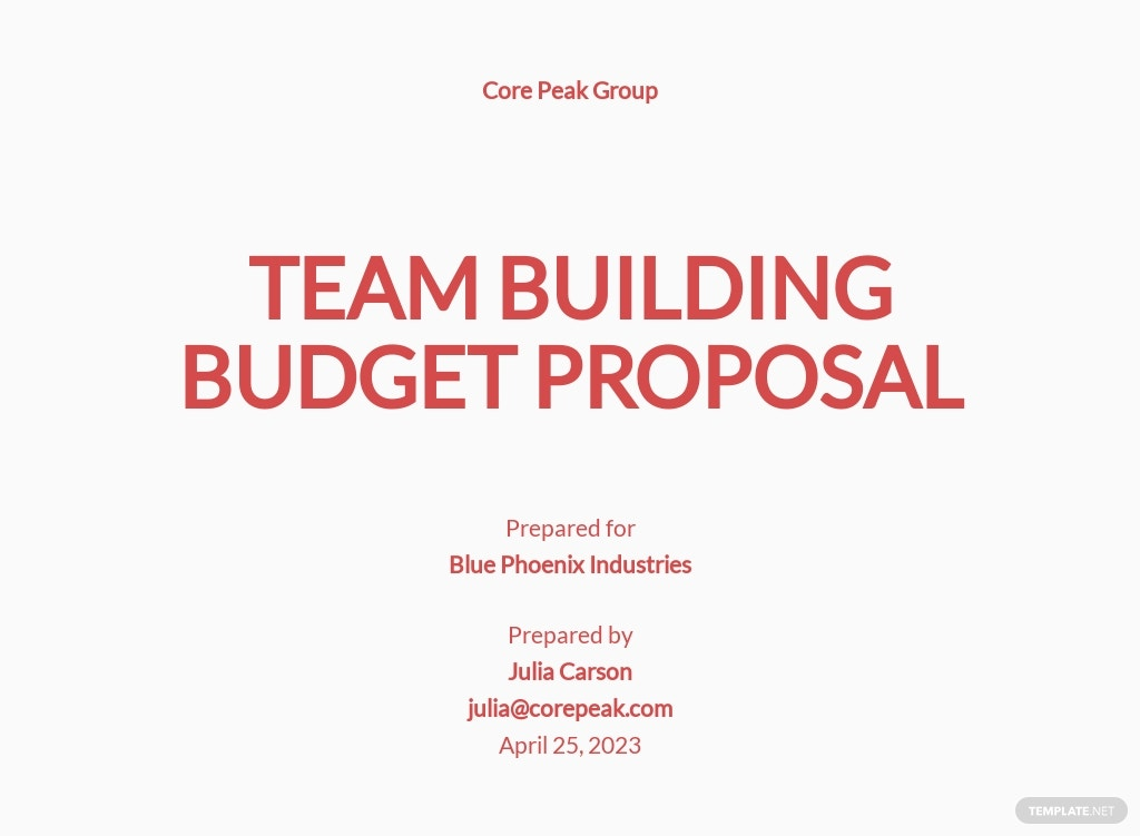 Team Building Budget Proposal Template.jpe