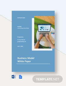 Business Model White Paper Template