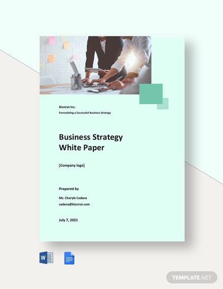 Business Strategy White Paper Template