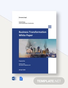 Business Transformation White Paper Template