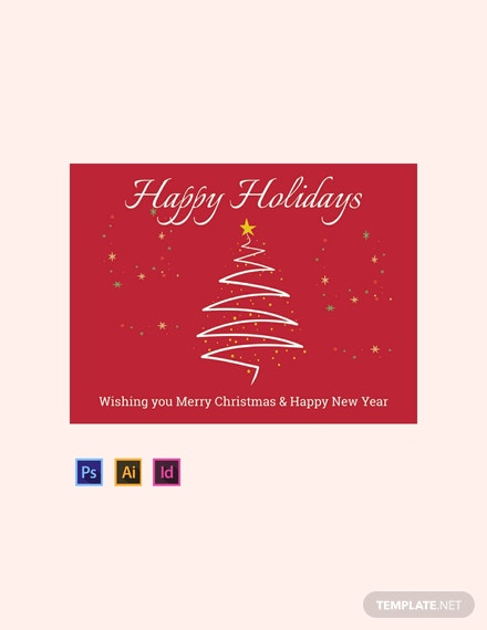 Free Holiday Sign Template