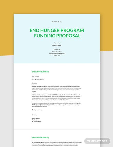 Non-Profit Funding Proposal Template