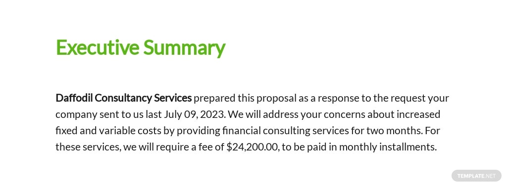Financial Consulting Proposal Template [Free PDF] - Google Docs, Word, Apple Pages