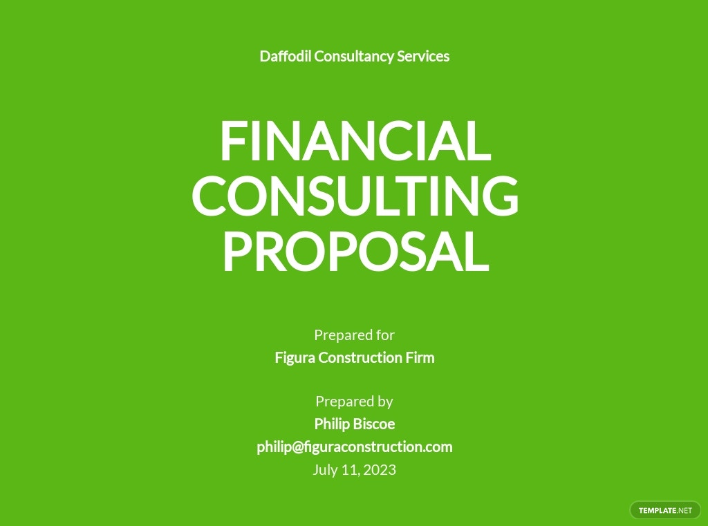 Financial Consulting Proposal Template