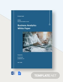 Business Analytics White Paper Template