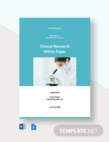 Clinical Research White Paper Template