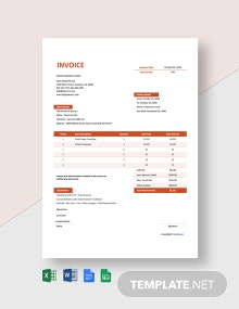 Free Simple Advertising Agency Invoice Template