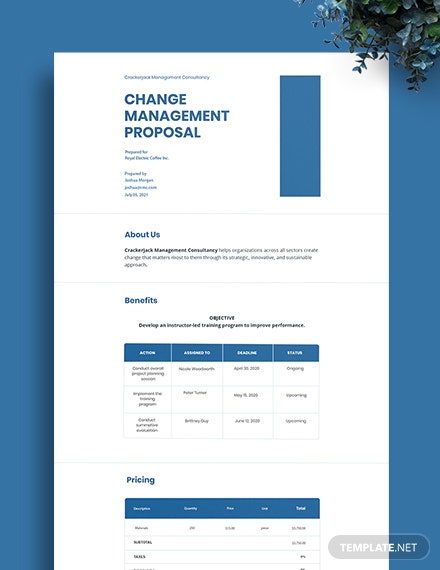 Change Management Proposal Template