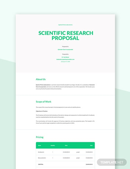 Scientific Research Proposal Template