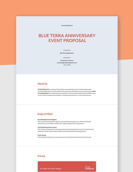Non Profit Event Proposal Template