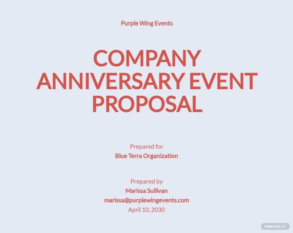 Non Profit Event Proposal Template [Free PDF] - Google Docs, Word, Apple Pages