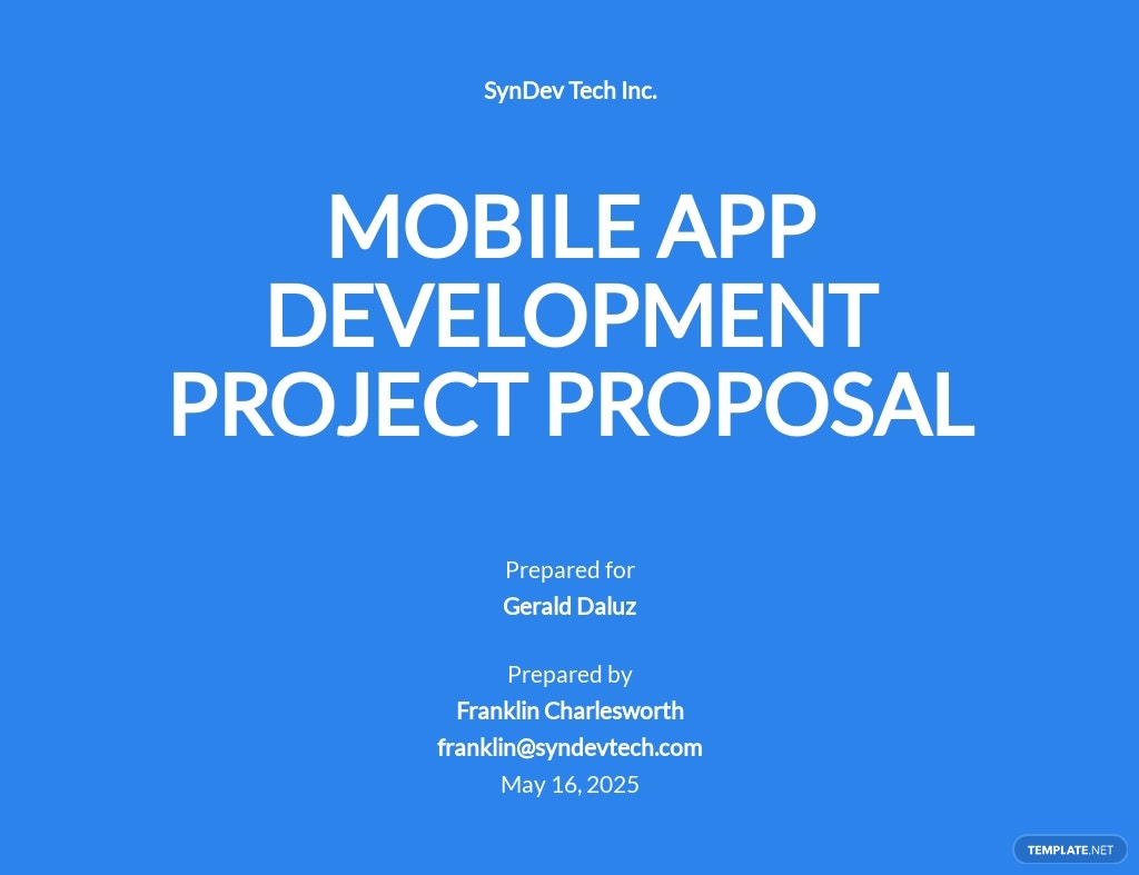 One Page Project Proposal Template