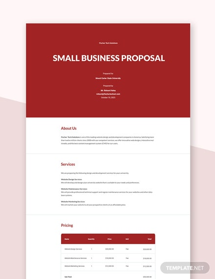 Editable Simple Small Business Proposal