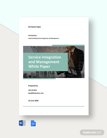 Service Integration and Management White Paper Template