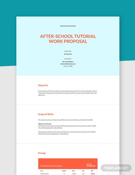 Contract Work Proposal Template