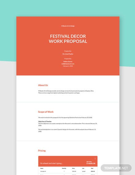 Scope of Work Proposal Template