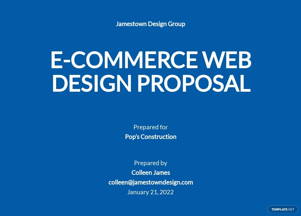 E Commerce Web Design Proposal Template