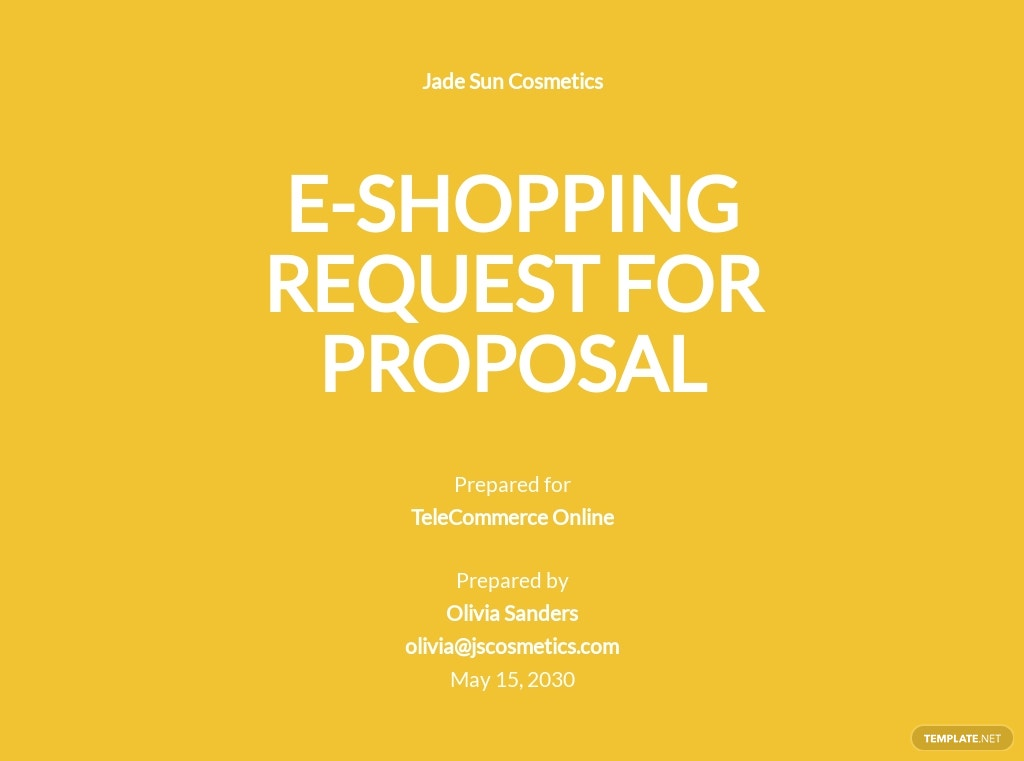 E-commerce Request For Proposal Template