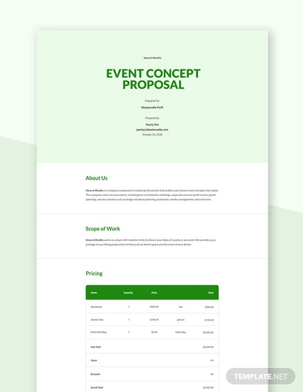 Event Concept Proposal Template