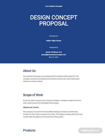 Design Concept Proposal Template