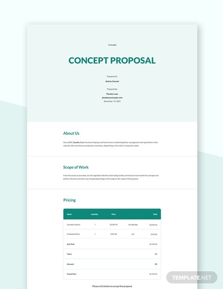 Sample Concept Proposal Template