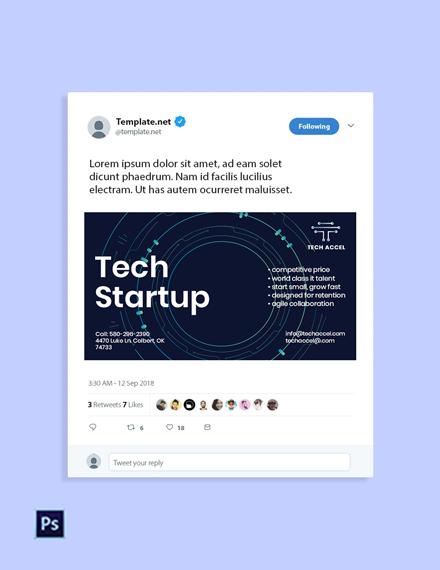 Free Tech Startup Twitter Post Template